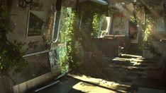 Abandoned Train by Tuna Unalan Abandoned Train, Abandoned Buildings, Abandoned Places, Abandoned Mansions, Apocalypse Aesthetic, Apocalypse Art, Post Apocalyptic Art, Quarter Quell, Nature Aesthetic
