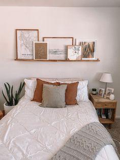 Room Ideas Bedroom, Home Decor Bedroom, Tan Bedroom Walls, Tan Rooms, Bedroom Wall Decor Above Bed, Boho Bedroom Diy, Nordic Bedroom, Bedroom Frames, Bedroom Decor On A Budget