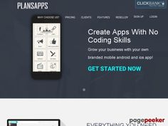 nice #Create Apps With No Coding Skills - PlansApps