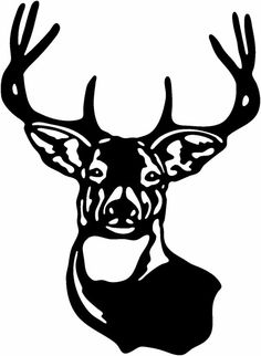 Deer Head Hunting Buck Gloss Vinyl Window Car wall Decal offered in 2 sizes home Laptop Boat Truck FREE SHIPPING