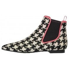 hound's-tooth Chelsea boot
