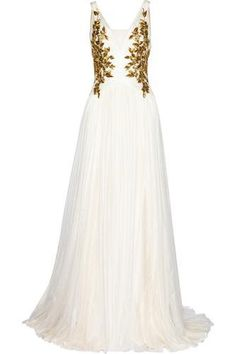Embellished tulle gown #gown #blacktie #women #covetme #marchesa