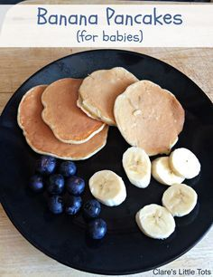 Banana pancakes recipe for babies perfect recipe for baby led weaning. We eat for a snack or breakfast and they never last long.