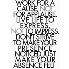 Make your absence felt ✖️