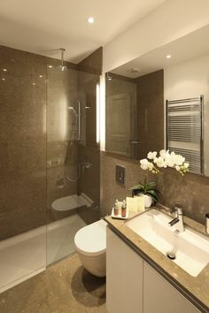 Find the incredible luxury bathroom with large space and lates features. Xflats offer luxury service apartment service in istanbul with very affordable prices.