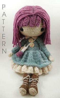 Kendra Amigurumi Doll Crochet Pattern PDF by CarmenRent on Etsy ♡ lovely doll