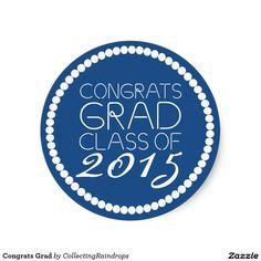 Congrats Grad Classic Round Sticker