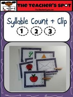 Early reading strategies and foundational skills.  Follow reading standard to count, pronounce, blend, and segment syllables in spoken words.  Use in centers, independent or small group work.Strengthen fine motor skills. Preparation:  Print on card stock paper and laminate for durability.