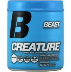 The Creatine Behind Creature® Unleash the Beast.™ Creatine fuels intense weight training and endurance activities to push harder, go faster, and recover quicker. In the process, it stimulates lean muscle mass, acts as a support system to prevent against muscle breakdown, and aids in muscle recovery.
