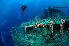 The USS Spiegel Grove (510 ft long) one of our favorite dives!