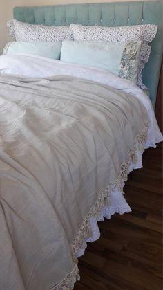 Have An Inquiring Mind Double Bed Flannelette Sheet Set Flower Petal Blue Navy Sky Off Cream Cotton Other Bedding Home & Garden