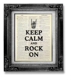 Keep Calm and ROCK On.    ......................................................................................      Buy 3, get 1 FREE !    After