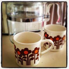 Crown Lynn, retro mugs