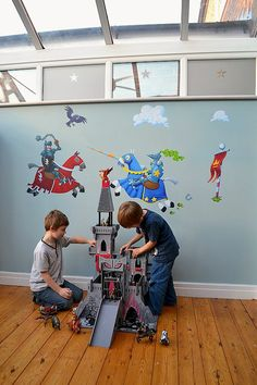 Applying wallstickers in kids' rooms by Tidy Away Today | 'Real life' interior decor, affordable home improvements & organising