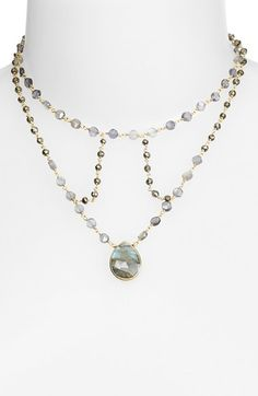 ela rae 'Cleo' Stone Necklace available at #Nordstrom