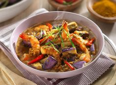 Shrimp Eggplant Sweet and Spicy Curry