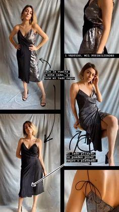 Un solo vestido, infinitas posibilidades. Repite en eventos sin que nadie se entere. Vestidos de talla única que se ajustan a tu cuerpo para que te sientas más cómoda y empoderada. Pensados para la mujer contemporánea por su frenético ritmo vida, para que le acompañe y se adapte a ella. #vestidosfiesta #vestidosgraduacion #vestidoamedida #vestidoreveresible #vestidomultiposicion #vestidowrap #mediosvestidos #rebérvere #rebervere #style #stylish #slowfashion #fashion #fashiondiaries… Multi Way Dress, One Shoulder, Formal Dresses, Fashion, Party Dresses, Events, Black, Life, Women