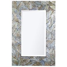 """Pier One Crackled Mother-of-Pearl Mirrors 32""""W x 1.50""""D x 48""""H"""