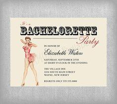 Printable Bachelorette Invitation Vintage by diamondsndiapers, $18.00