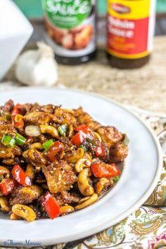 Spicy Chinese Cashew Chicken - Flavor Mosaic