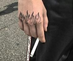 Top Amazing Ideas For Finger Tattoos ★ Flame Tattoos, Dope Tattoos, Pretty Tattoos, Mini Tattoos, Body Art Tattoos, Tattoo Drawings, Small Tattoos, Tattoos For Guys, Tattoos For Women