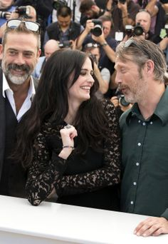 Eva Green with Mads Mikkelsen and Jeffrey Dean Morgan | 'The Salvation' Photocall at Cannes Film Festival 2014