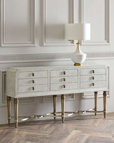 Aubree 6-Drawer Console by Hooker Furniture at Horchow.