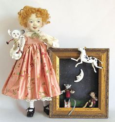 Hey Diddle Diddle, The Cat And The Fiddle by Lucia Friedericy, Friedericy Dolls at The Toy Shoppe
