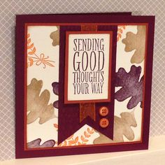 For all Things stamp set with words from Perfect Pennants - created by Julia Jordan