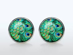 Hey, I found this really awesome Etsy listing at https://www.etsy.com/listing/167937843/wedding-cufflinks-silver-plated-peacock