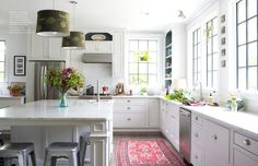 Look at the windows in this kitchen! October 2013 - Lonny Magazine - Lonny