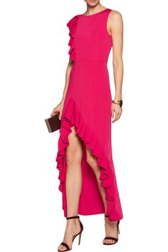 Shop on-sale Maje Ruffled jersey maxi dres. Browse other discount designer Dresses & more on The Most Fashionable Fashion Outlet, THE OUTNET.COM