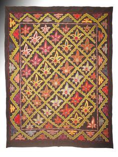 Uzbek Bukhara region silk handmade embroidery suzani