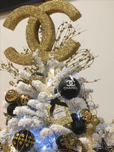 Coco Chanel Christmas tree topper.