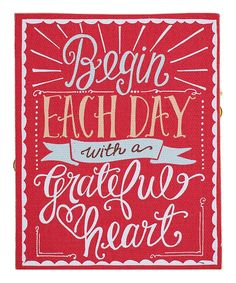 Love this 'Begin Each Day With A Grateful Heart' Canvas by Glory Haus on Cool Words, Wise Words, Now Quotes, Heart Canvas, Grateful Heart, Thankful, Happy Heart, Attitude Of Gratitude, Gratitude Quotes