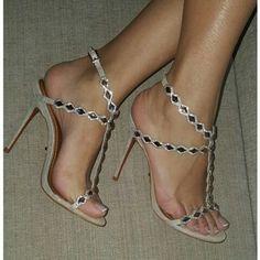 1fc2dab3f21f Sandales Roses, Sandales Hauts Talons, Sandale Haute, Talons Aiguilles, Chaussures  Femme,