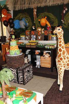Jungle Safari Birthday Party Ideas   Photo 9 of 23   Catch My Party