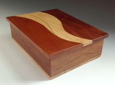 Curves and line wood box 51 by KevinWilliamson on Etsy