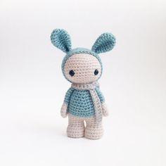Miss Marshmallow the cute crochet bunny amigurumi by CreepyandCute