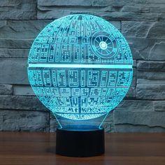 Death Star - 3D Optical Illusion LED Lamp Hologram Star Wars – The 3D Lamp®