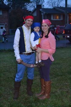 Jake and the Neverland Pirates family costumes...Jake, Izzy and Cubby