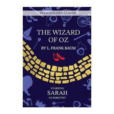 Personalised The Wizard of OZ Novel - 1 Character Personalised Childrens Books, Personalised Gifts For Mum, Book Stationery, Wizard Of Oz, Book Worms, Novels, Gifts For Her, Feelings, Cards