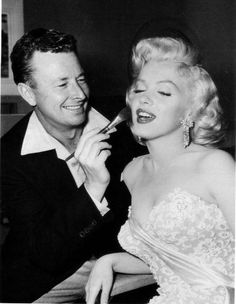 Allan Whitey Snyder #Truccatore di #MarilynMonroe - #TimelessBeauty