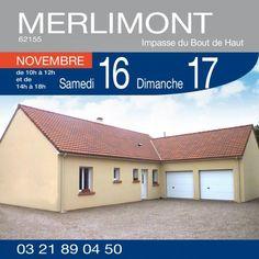#HabitatConcept vous ouvre les portes de ce pavillon à MERLIMONT (62155) - Impasse du Bout de Haut. Samedi 16 et Dimanche 17 Novembre de 10h à 12h et de 14h à 18h. Plus de renseignements : 03.21.89.04.50
