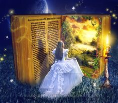 Book to magical world by SummerDreams-Art Fantasy World, Fantasy Art, Enchanted Book, Book Sculpture, Magic Book, World Of Books, I Love Books, Book Photography, Creative Art