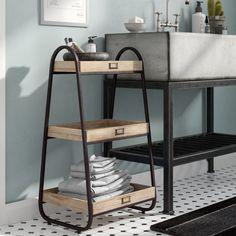 Quijada Solid Wood Free-Standing Bathroom Shelves