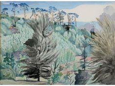 John Nash, Parkland scene Landscape Art, Landscape Paintings, Landscapes, John Nash, Post Impressionism, Contemporary Abstract Art, Conceptual Art, Cool Artwork, Cover Art