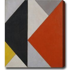Shop for Theo van Doesburg 'Composition' Large Abstract Oil-on-Canvas Art - Multi-color. Get free delivery On EVERYTHING* Overstock - Your Online Art Gallery Store! Abstract Drawings, Abstract Images, Abstract Oil, Bauhaus, Wall Canvas, Canvas Art, Theo Van Doesburg, Triangle Art, Ap Studio Art
