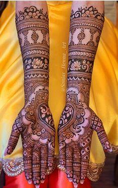 Bridal Henna Mehndi Designs for Full Hands