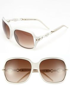 I need these!   Gucci 'Marina Chain' Oversized Sunglasses available at Nordstrom
